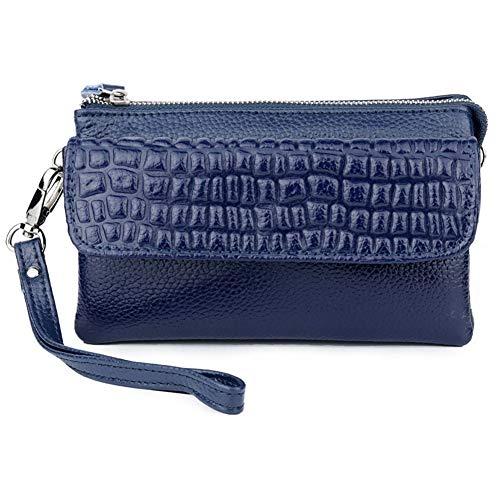 NOLOGO Wallet Damen diagonal kleine Tasche Vertical Wallet (Color : Dark Blue)