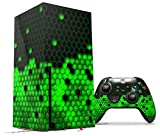 WraptorSkinz Skin Wrap compatible with the 2020 XBOX Series X Console and Controller HEX Green (XBOX NOT INCLUDED)