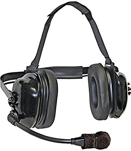 Klein Electronics TITAN-FLEX Titan FlexBoom Headset; Extreme High-Noise, Dual-Muff Headset with FlexBoom Microphone, Foam Pads and Black earshells; Universal 5-pin cable connector plus scanner/ipod po