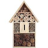 Deuba XL Insektenhaus Insektenhotel Schmetterlingshaus aus Holz Nistkasten Nistplatz Brustkasten Bienenhaus Insekten Bienen Hotel Natur Garten 40cm