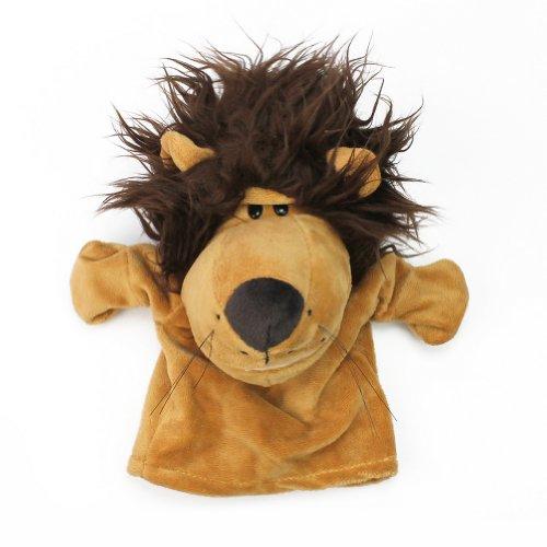Marionnette à Main de Lion en Velours pour Spectacle Jouet Cadeau Enfant Bébé