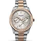 SEKONDA Womens Multi dial Quartz Watch with Stainless Steel Strap 2162
