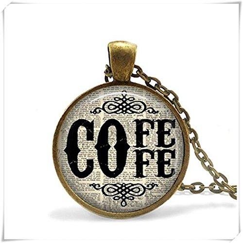 Kaffee Zitat Anhänger, Kaffee Halskette, Kaffee Geschenk Schmuck,