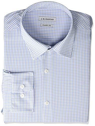 Cubavera Men's Big Big & Tall Two Pocket Pintuck Panel Shirt, Mediterranean Blue, Large Tall