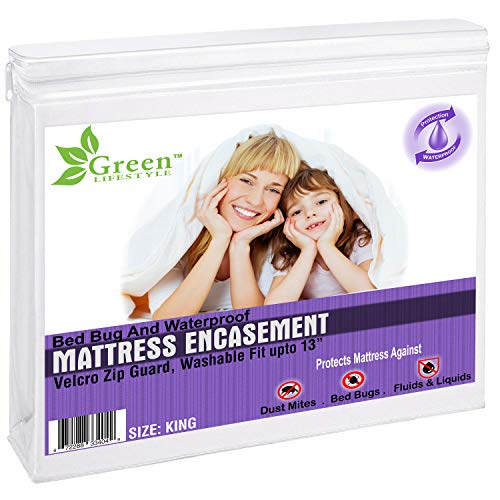 Waterproof Box Spring Encasement – Breathable Zippered...