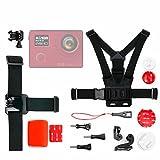 DURAGADGET Kit de Accesorios para Cámara Deportiva Acción Elephone REXSO Explorer- 4K / Hawkeye Firefly 7S 4K / SJCam SJ4000 Air