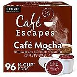 Café Escapes Café Mocha Coffee Beverage, Single-Serve Keurig K-Cup Pods, 96 Count