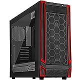 SilverStone SST-RL05BR-W - Cabinet da Gaming Red Line Midi Tower ATX Silent, Silent High Airflow Performance, nero