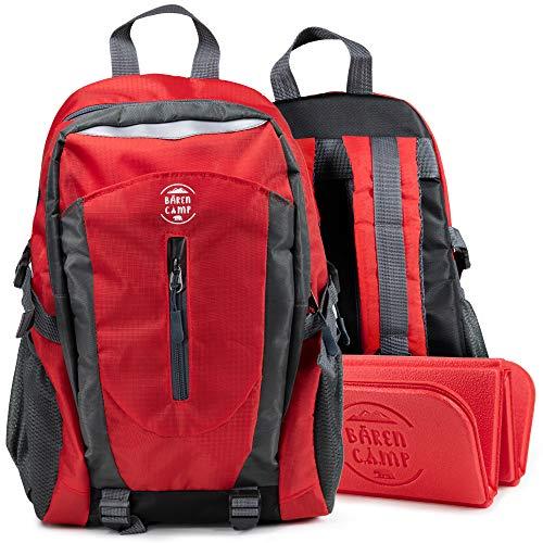 BÄREN CAMP Wanderrucksack Kinder mit Outdoor Sitzkissen 15L [Rückenschutz-Technologie] | Kinderrucksack klein leicht | Jungen Mädchen Rucksack | Camping Zubehör Trekkingrucksack - Jetzt Farbe wählen