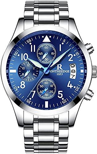QHG Reloj de Pulsera de Cuarzo analógico para Hombre Reloj de Pulsera analógica numérica Romana (Color : FZ-4)