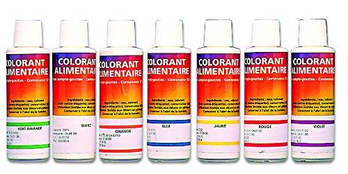Colorant liquide alimentaire professionnel. Couleur violet.