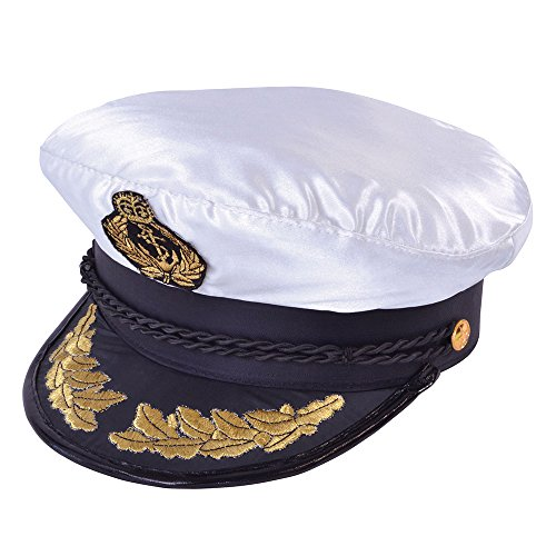 Déguisement Marin - Casquette de Capitaine - version Deluxe