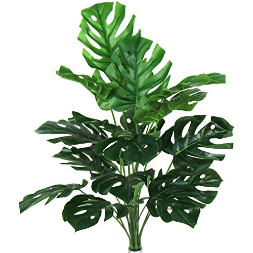 Artificial Plants 29' Tall Fake Turtle Tree Leaves with Stems Faux Palm Leaf...