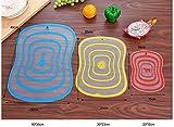 Berrd 1 Pieza Accesorios de Cocina de plástico categoría de Exfoliante de Grasa Vegetal Tabla de Cortar Tabla de Cortar amasar Fruta Antideslizante Tabla de Cortar SML - 1, M