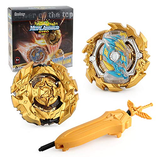 Bey Battle Gyro Burst Battle Evolution Metal Fusion Attack Set with Launcher (2 in 1)