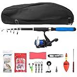 Pwshymi Kit de pêche de Canne à pêche Spinning 2.1m Rod Pole Set Haute densité pour la pêche