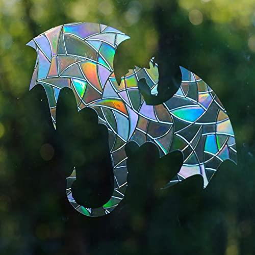 jaizu Dragon Window Gems - Clips estáticos para Ventanas - Alert Birds to Windows - Previene colisiones de Ventanas - Juego de 4 calcomanías