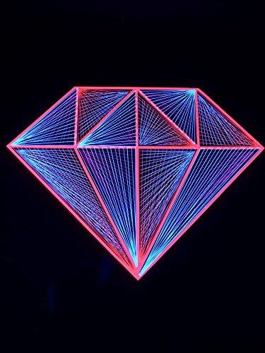 PSYWORK Pink Diamond - Guirnalda de Luces en 2D (1,20 m), Color Rosa