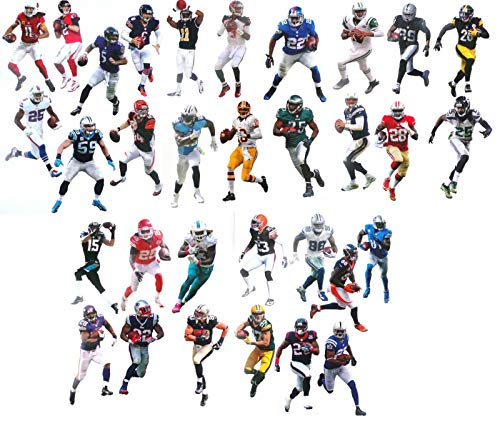 """Complete Set of 32 NFL Player Mini FATHEAD Vinyl Wall Graphics - 7"""" INCH Each - 1 Player Graphic from All 32 NFL Teams"""