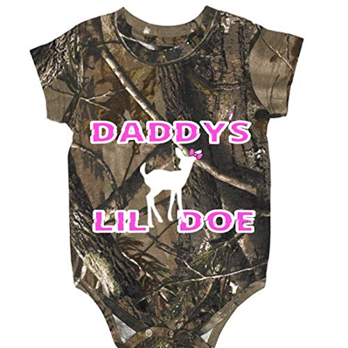 Southern Designs Camo Daddy's Lil Doe Onesie Baby Clothing (6 Month)