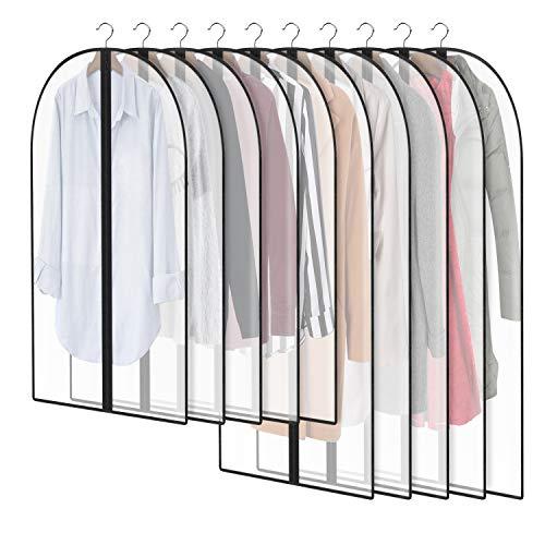 의류 커버 보호복 가방 보관용 5 X 40 + 5 X 47 스터디 풀 지퍼 스토어 드레스 코트 - 10세트