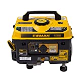 Firman P01001 1300/1050 Watt Recoil Start Gas Portable Generator CARB and cETL Certified, Black