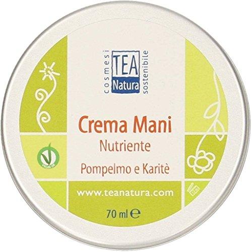 TEA NATURA - Crème nourrissante pour les mains Pamplemousse et Karité - Elasticante - Renforcante - Non grasse - Végétalienne - 70 ml