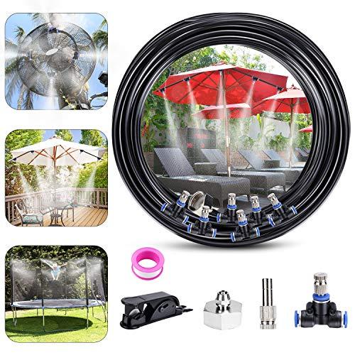 Fixget Nebulizador Jardin, Sistema de enfriamiento de Niebla, Kit de Niebla Exterior Sistema de riego Patio Mister de Niebla (10)