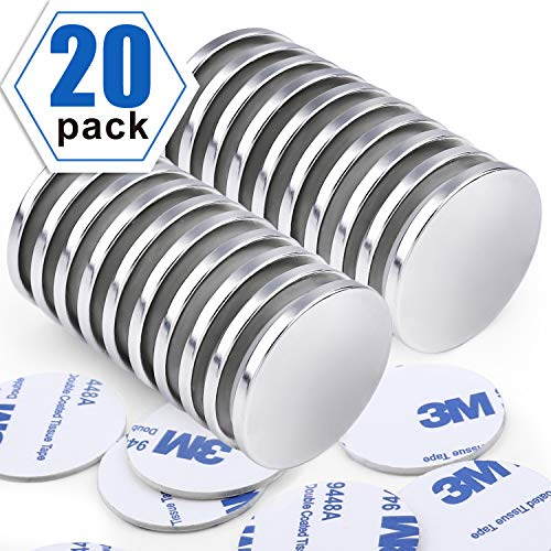 Super Strong Neodymium Disc Magnets Powerful N52 Rare Earth Magnets  126 inch x 1/8 inch Pack of 20