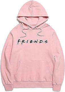 Joeoy Women's Casual Lightweight TV Show Friends Hoodie Pullover Shirts Tops