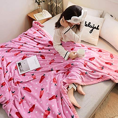 ROZIA Coral fleece blanket flannel-100x150_10