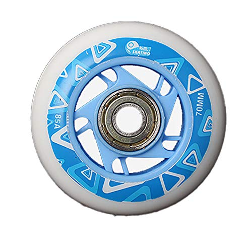 Ti-Fa Inline Skate Wheels, PU Wearable Replacement Wheels with Bearings, for Adult Girls Boys Beginner 64Mm 70Mm 68Mm,70mm