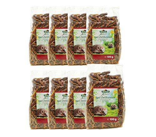 Dehner Natura Friandises pour hérisson 8 x 100 g (800 g en Tout)