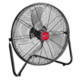 OEMTOOLS 24891 12 Inch Black High-Velocity Tilting Workspace Fan | 1300 CFM | Tilt Mechanism for Airflow Control | Cool Your Workspace, Warehouse, Factory Floor, and More