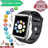 Smart Watch,Bluetooth Smartwatch Touch Screen Wrist Watch with Camera/SIM Card Slot,Waterproof Phone Smart