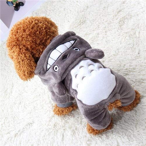 cydysy Caliente Suave de Lana Ropa para Perro y Gato Perro Mascota Dibujos Animados Trajes de otoño Invierno Ropa para Perros pequeños Chihuahua Yorkie Ropa (S,Gray)