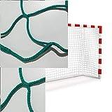 Par de Redes Balonmano/Fútbol Sala Reglamentarias de Color VERDE de 3 mm Ø. Calidad Profesional