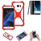 K-S-Trade® Handyhülle Für Leagoo S8 Schutzhülle Bumper Silikon Schutz Hülle Cover Case Silikoncase Silikonbumper TPU Softcase Smartphone, Rot (1x)