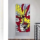 YRZYT Roy Lichtenstein Poster AvióN Bombardero Comic Poster Roy Lichtenstein Pared Arte Pop Obra De Arte De La Lona Cuadros Famosos Pintura Salon Pasillo Pared Decoracion