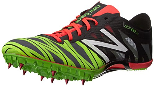 New Balance Sprint 400 V2 Spike - Zapatillas de Correr para Hombre, Color Negro y Rojo, 10.5 B US