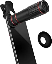 aceyoon 20X Telephoto Lens Cell Phone Universal Optical Zoom Camera Lens Wide Angle Attachment Clip On Bird Watching for Galaxy S10, S9, S8, Note 8, Pixel 2, 3, 3 XL, XS, XR, Mate 20