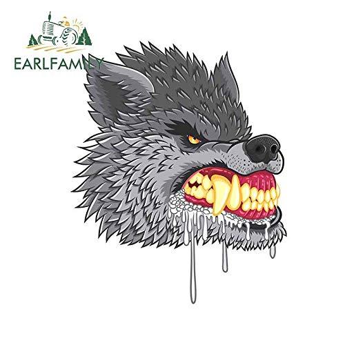 JYIP Pegatina de Vinilo para Coche de Hombre Lobo decoración para Maletero de Ordenador portátil Maleta Tuning Pegatina de camioneta 13cm x 10 5 cm-Style_A