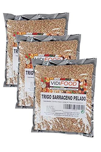 Trigo sarraceno - 3kg - Ideal para dietas cetogénicas y veganas - Tortitas de cereal sin gluten - Cereal para fideos soba