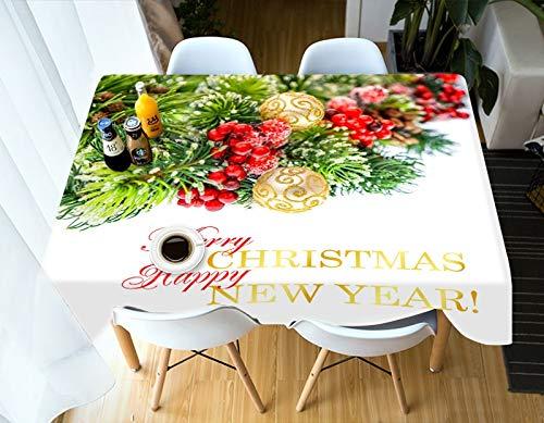 Qiao jin Tafelkleden 3D Tafelkleed Vrolijk Kerstmis Lichtgevende Kerstboom Patroon Waterdicht Dikke Rechthoekige Tafeldoek tafelkleed