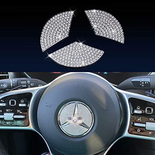 JALII Steering Wheel Bling Crystal Shiny Diamond Accessory Interior...