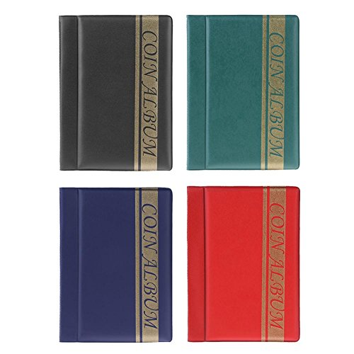 PMSMT Libro de colección de álbum de Monedas de 120 Bolsillos, Soportes de Almacenamiento de Monedas conmemorativos, Libro de álbum para Regalos de coleccionista de Monedas