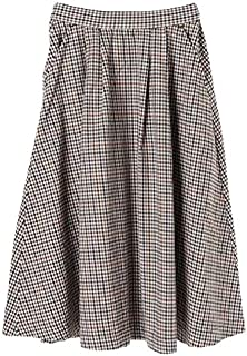 アメリカンホリック(AMERICAN HOLIC) チェックフロントタックロングスカート
