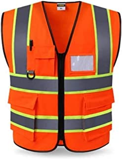 ZXPzZ Safety Vest Reflective Vest Building Construction Engineering Safety Protective Coat Green Security Fluorescent Vest