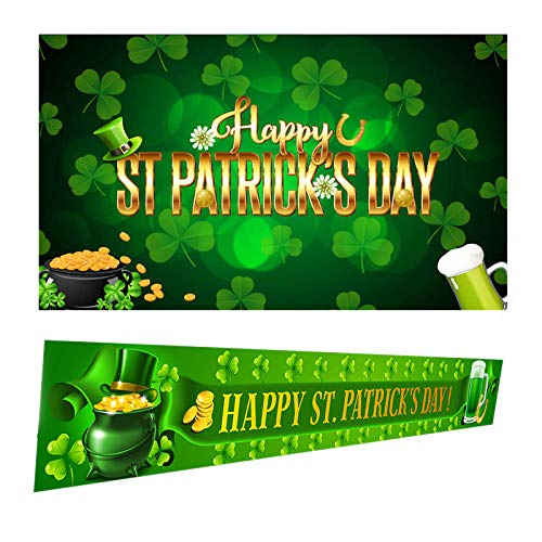 Amazon 2021 New Easter St. Patrick's Day Banner Hanging Flags Powerful Merchants