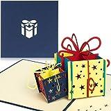 PaperCrush® Pop-Up Geburtstagskarte für Geldgeschenk [NEU!] - 3D Popup Karte zum Geburtstag, Geldgeschenkkarte - Handgemachte Glückwunschkarte inkl. Umschlag